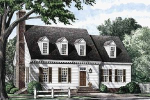 Colonial Exterior - Front Elevation Plan #137-178