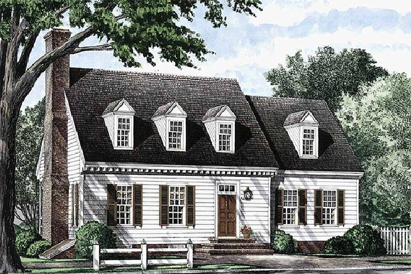 Colonial Exterior - Front Elevation Plan #137-178 - Houseplans.com