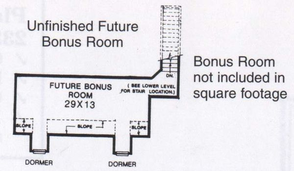 Traditional Floor Plan - Upper Floor Plan #310-829