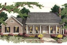 Southern Exterior - Front Elevation Plan #406-287