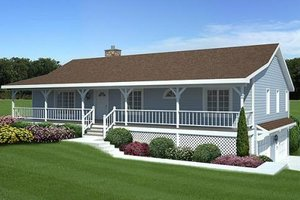 Country Exterior - Front Elevation Plan #312-575