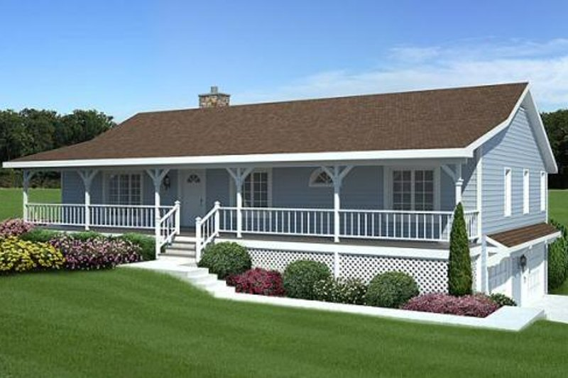 Country Style House Plan - 3 Beds 2 Baths 1792 Sq/Ft Plan #312-575