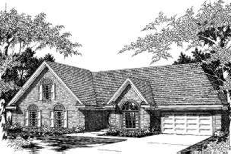 European Style House Plan - 5 Beds 3 Baths 2338 Sq/Ft Plan #329-110 Exterior - Front Elevation