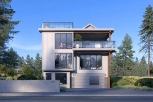 House Design - Contemporary Exterior - Front Elevation Plan #1066-100