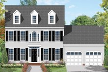 Classical Exterior - Front Elevation Plan #1053-8
