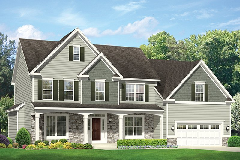 Architectural House Design - Colonial Exterior - Front Elevation Plan #1010-173