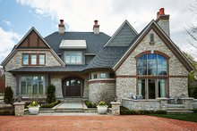 Home Plan - Tudor Exterior - Front Elevation Plan #928-275