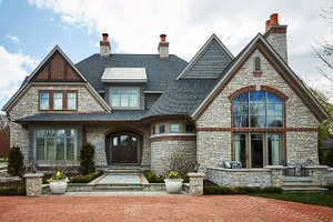 Dream House Plan - Tudor Exterior - Front Elevation Plan #928-275