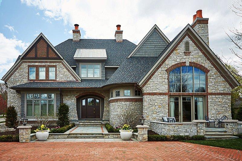 Architectural House Design - Tudor Exterior - Front Elevation Plan #928-275