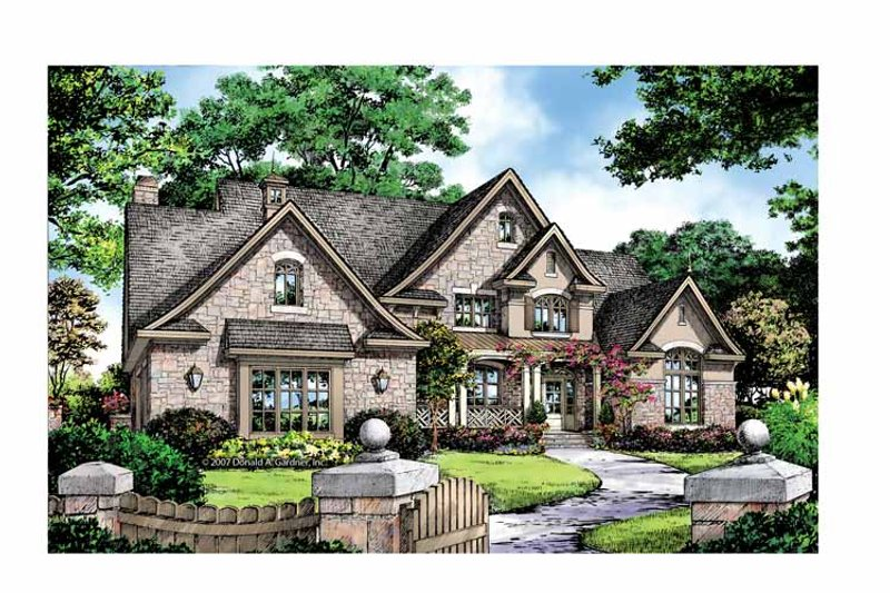 European Exterior - Front Elevation Plan #929-870 - Houseplans.com
