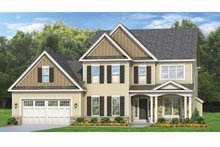 Colonial Exterior - Front Elevation Plan #1010-67