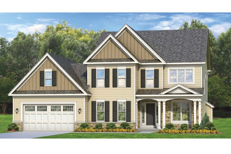 Colonial Exterior - Front Elevation Plan #1010-67 - Houseplans.com