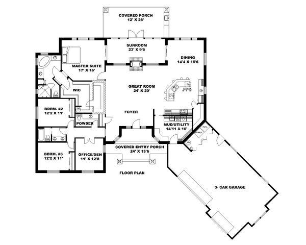 House Plan Design - Ranch Floor Plan - Main Floor Plan #117-871