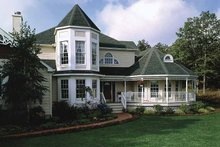 Architectural House Design - Victorian Exterior - Front Elevation Plan #314-188