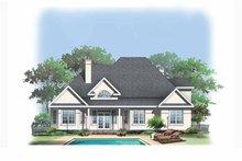 Home Plan - European Exterior - Rear Elevation Plan #929-883