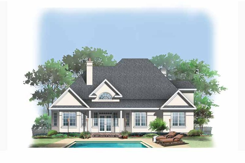 European Exterior - Rear Elevation Plan #929-883 - Houseplans.com