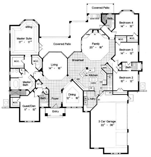 Traditional Floor Plan - Main Floor Plan Plan #417-404