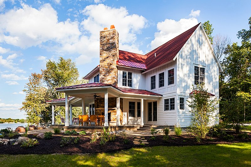 Country style house plan 3 beds 4 baths 3347 sq ft plan for Visbeen architects floor plans