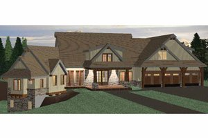 European Exterior - Front Elevation Plan #937-19