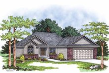 Ranch Exterior - Front Elevation Plan #70-1361