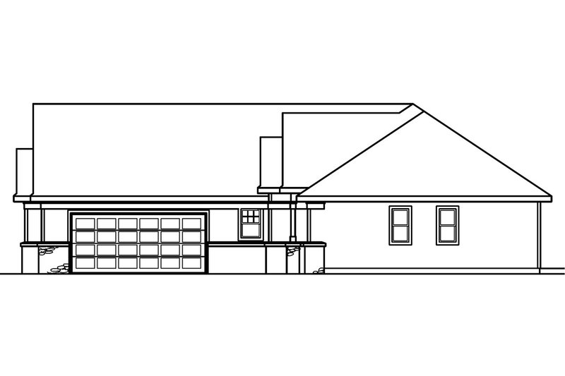 Traditional Exterior - Other Elevation Plan #124-378 - Houseplans.com