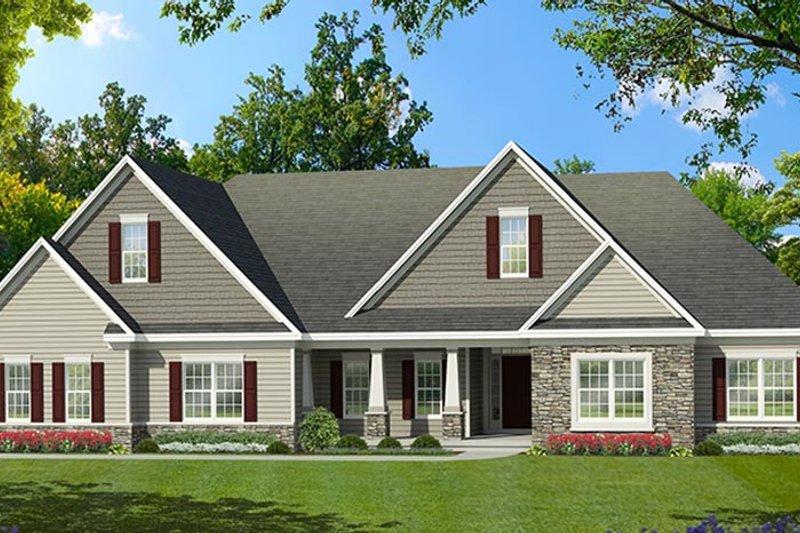 Ranch Exterior - Front Elevation Plan #1010-194 - Houseplans.com