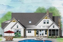 Farmhouse Exterior - Rear Elevation Plan #929-1086