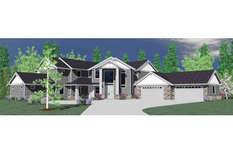 Traditional Exterior - Front Elevation Plan #509-391 - Houseplans.com