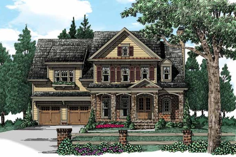 Architectural House Design - Traditional Exterior - Front Elevation Plan #927-940