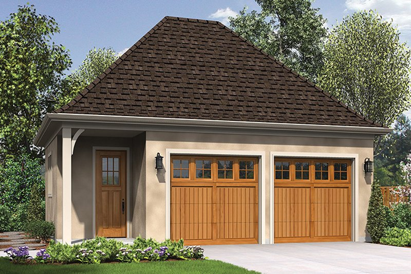 Craftsman Exterior - Front Elevation Plan #48-918 - Houseplans.com