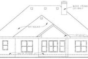 European Style House Plan - 2 Beds 2 Baths 1351 Sq/Ft Plan #20-1396 Exterior - Rear Elevation