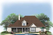 Country Exterior - Rear Elevation Plan #929-331