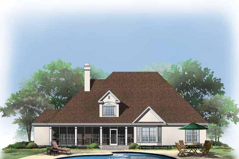 Country Exterior - Rear Elevation Plan #929-331 - Houseplans.com
