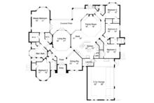 Mediterranean Floor Plan - Main Floor Plan Plan #417-662