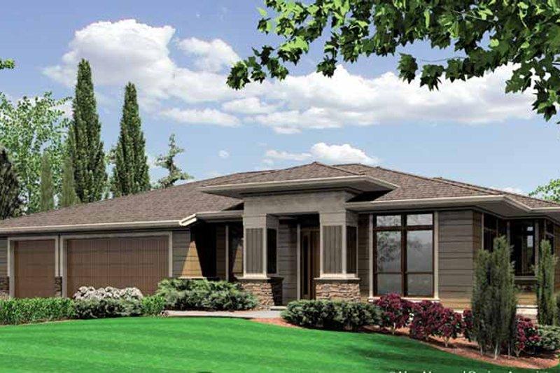 Dream House Plan - Mediterranean Exterior - Front Elevation Plan #48-887