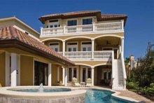 House Design - Mediterranean Exterior - Rear Elevation Plan #930-411