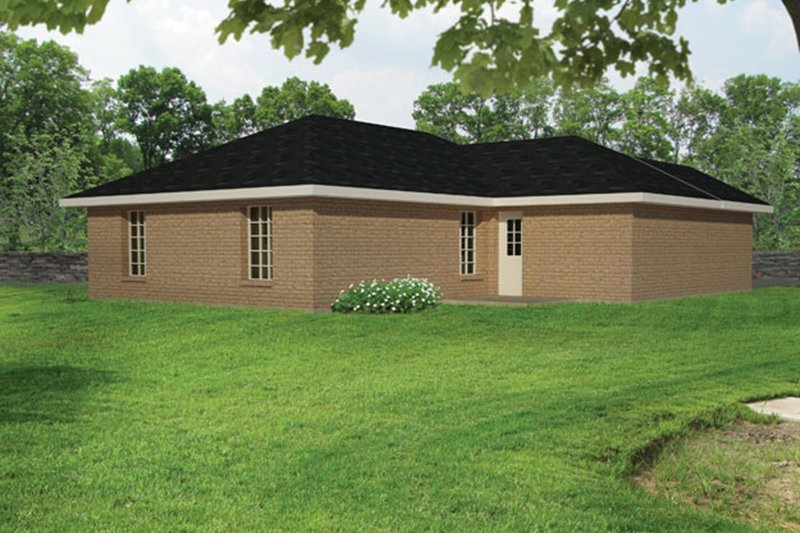 Ranch Exterior - Rear Elevation Plan #1061-28 - Houseplans.com