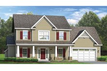 Home Plan - Colonial Exterior - Front Elevation Plan #1010-47