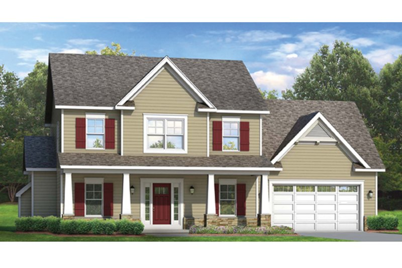 Colonial Exterior - Front Elevation Plan #1010-47