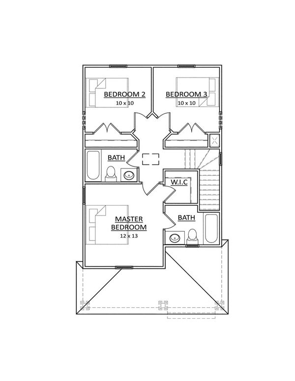 Traditional Floor Plan - Upper Floor Plan Plan #936-28