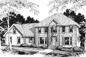 European Exterior - Front Elevation Plan #10-249