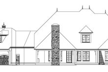 European Exterior - Rear Elevation Plan #17-3328
