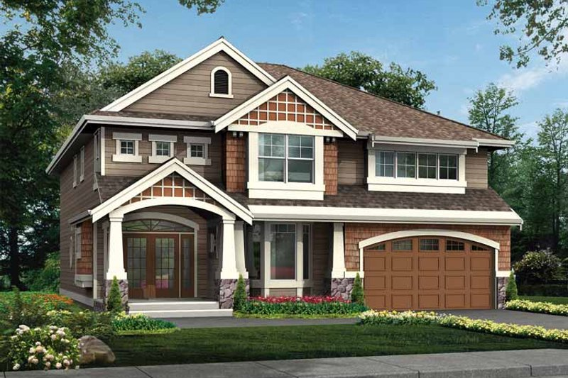 Craftsman Exterior - Front Elevation Plan #132-397