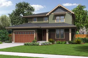Country Exterior - Front Elevation Plan #48-638