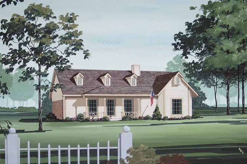 Home Plan - Traditional Exterior - Front Elevation Plan #45-404