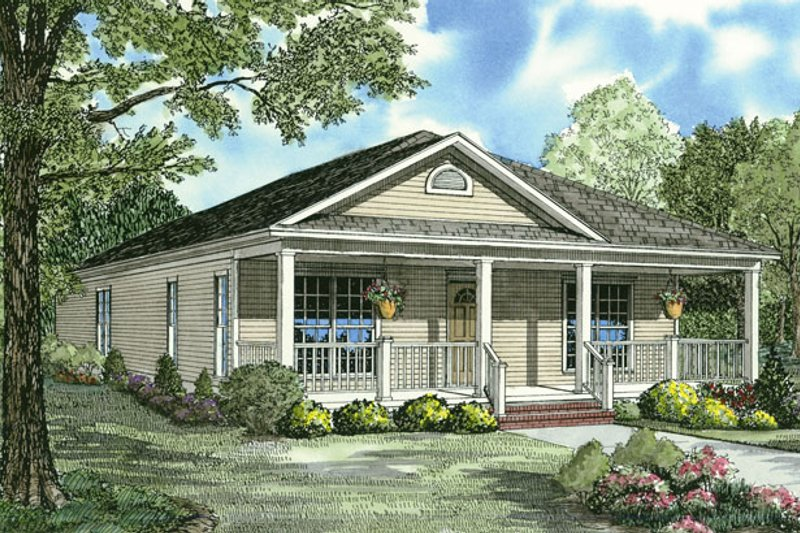 Architectural House Design - Country Exterior - Front Elevation Plan #17-3057
