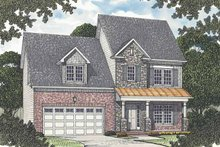 Colonial Exterior - Front Elevation Plan #453-505