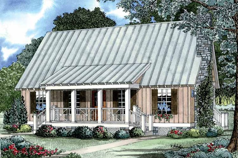Architectural House Design - Country Exterior - Front Elevation Plan #17-2885