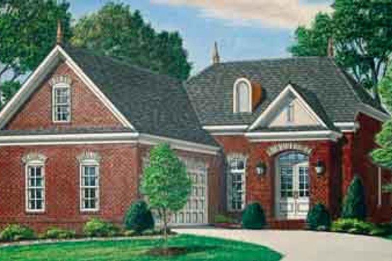 Dream House Plan - European Exterior - Front Elevation Plan #34-190