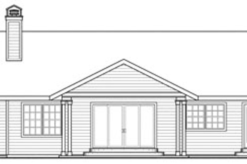Ranch Exterior - Rear Elevation Plan #124-818 - Houseplans.com
